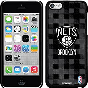 Coveroo iPhone 6 4.7 Black Thinshield Snap-On Case with Brooklyn Nets Plaid Print Design