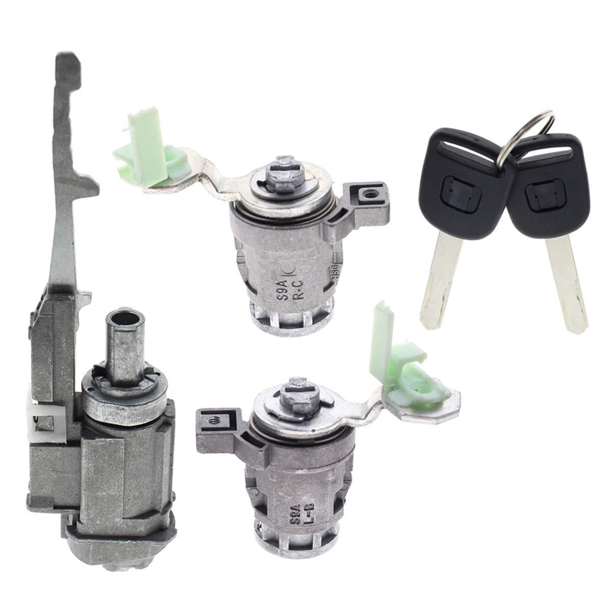 AUTOKAY Door Lock Cylinder Set W//Ignition Switch Lock for Honda Civic CRV S2000 Element