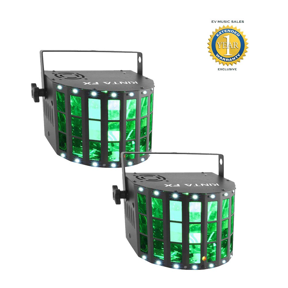 Chauvet DJ Kinta FX Compact Multi-effects Lighting Fixture 2-Pack with 1 Year Free Extended Warranty