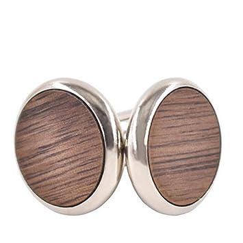 Doitsa 1 par Gemelos hombre Mancuernas de camisa Moda Simple Gemelos de madera Oficina Boda Regalo: Amazon.es: Hogar