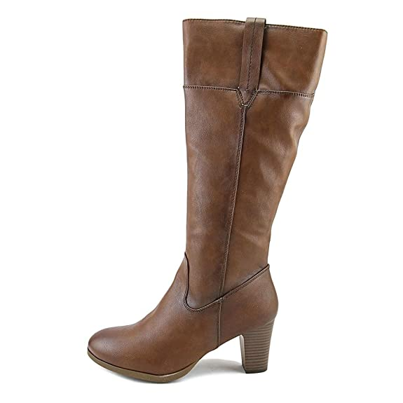 Amazon.com | Patrizia by Spring Step Mastaza Women Round Toe Synthetic Brown  Knee High Boot | Knee-High