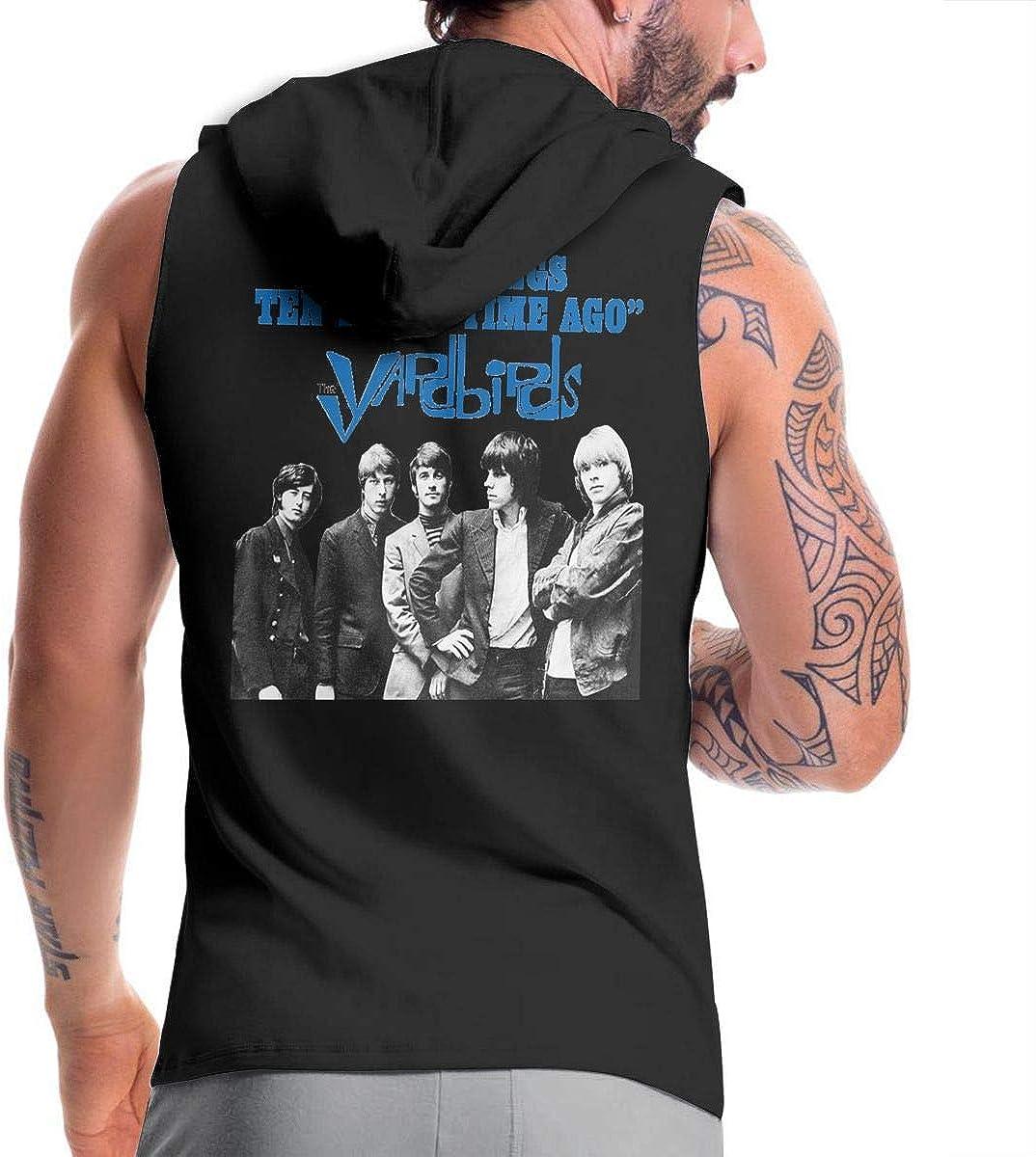 Hengteng Mens Cool with Hood Bag The Yardbirds Happenings Ten Years Time Ago Zipper Hoodie