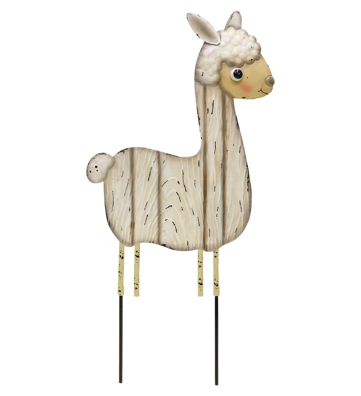 Regal Art /& Gift 12675 Farm Stake-Llama Garden D/écor Beige