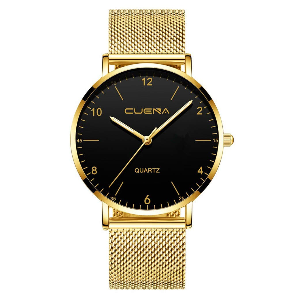 Mens Business Watches Clearance Luxury Watches Quartz Watch Stainless Steel Dial Casual Bracele Watch