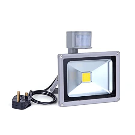 Noza tec led low energy security flood light with pir sensor20w noza tec led low energy security flood light with pir sensor20w warm white ip65 aloadofball Choice Image