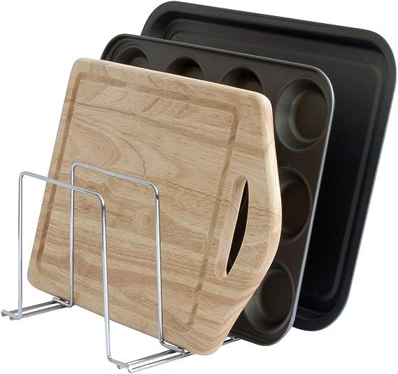 Baking Tray & Chopping Board Rack - Cupboard Organiser - Chrome
