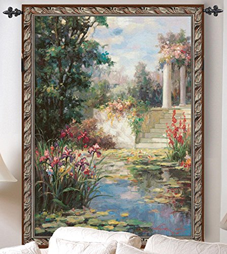 The Water Garden with Columns Cotton Wall Art Hanging Tapestry 35