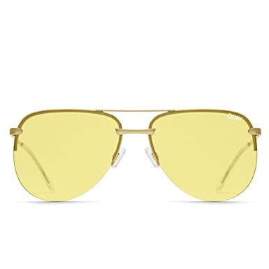 3e758bb6bad Image Unavailable. Image not available for. Color  Quay Australia THE PLAYA  Women s Sunglasses Frameless Aviator ...