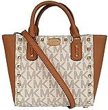 Michael Kors Sandrine Stud Acorn Small Crossbody Leather Handbag Vanilla