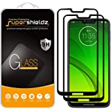 (2 Pack) Supershieldz Designed for Motorola (Moto G7 Power) Tempered Glass Screen Protector, (Full Screen Coverage) Anti Scra