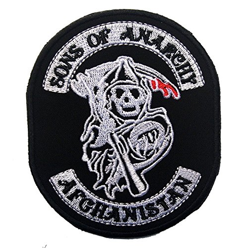 Aquiver Sons of anarchy Halloween embroidery the tactical military patches badges for clothes clothing HOOK/LOOP ()