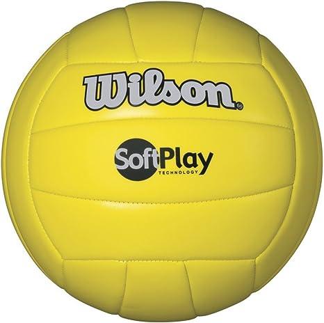 Wilson WTH3501XYEL Pelota de Voleibol Soft Play Cuero sintético ...