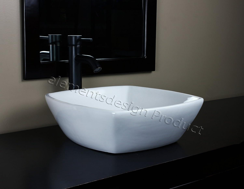 Bathroom Ceramic Porcelain Vessel Sink CV7068E3 Oil Bronze Faucet Drain