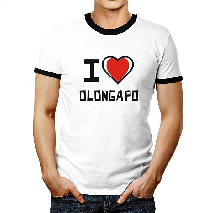 e5ae1ed8 Idakoos - I love Olongapo - Cities - Ringer T-Shirt: Amazon.ca: Clothing &  Accessories