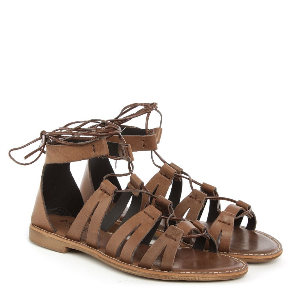 5ebb191b234d2 Daniel Honey Brook Brown Leather Gladiator Sandal 41 Brown Leather   Amazon.co.uk  Shoes   Bags