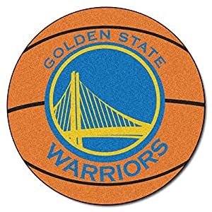 FANMATS NBA Golden State Warriors Nylon Face Basketball Rug