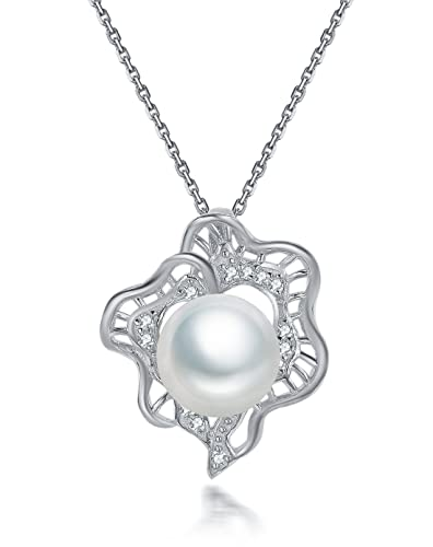 Fei Liu Pearl Flower Collection Fresh Water Pearl And Cubic Zirconia Silver Uhren & Schmuck Modeschmuck