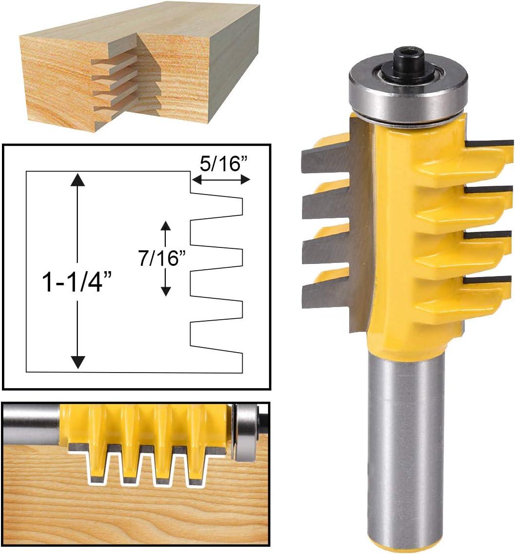 HOHXEN 1//2 Inch Shank Reversible Finger Glue Joint Router Bit