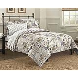 Free Spirit Cape Cod Seaside Sailing Nautical Bedding Comforter Set, Multi-Colored, King