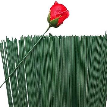 df9eff7f1387 50 Pcs 2   Vert Floral Tape Fer Papier Enroulé Fils Fleur Artificielle Stub  Tige À