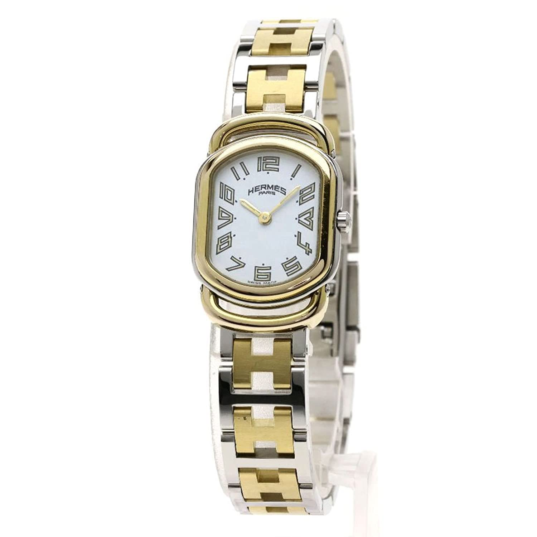 [エルメス]ラリー 腕時計 ステンレススチール/SSxGP レディース (中古) B07DWNQDQD