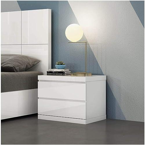 Whiteline Contemporary Modern Anna High Gloss Night Stand