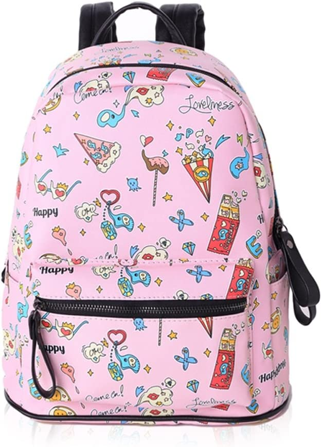 Color : B Printable lightweight lightweight casual student shoulder bag outdoor travel waterproof backpack