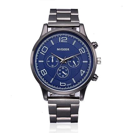 Reloj de Pulsera de Cuarzo Analógico de Acero Inoxidable cristalino de Moda para Hombres Muestre su