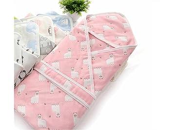 QWhing Suave y Acogedor Bebé Recién Nacido Bebé Swaddle Verano Sección Delgada Sleeping Wrap Blanket Adecuado para 0-3 Meses Saco de Dormir del bebé: ...