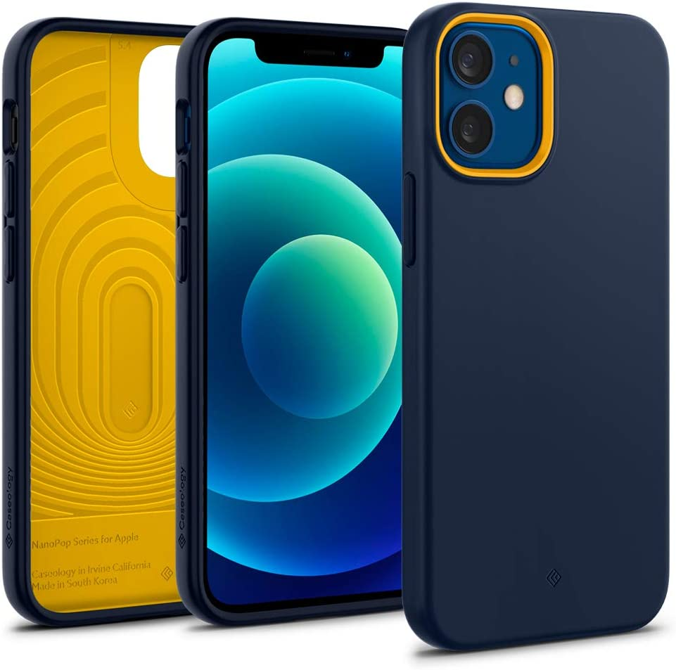 Caseology Nano Pop Silicone Case Compatible with iPhone 12 Mini Case (2020) - Blueberery Navy