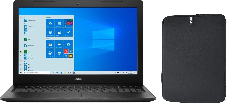 "2020 Dell Inspiron 15.6"" HD Touchscreen Premium Laptop, 10th Gen Intel Dual-Core i3-1005G1 (Beat i5-8250U), 8GB DDR4 RAM, 128GB PCIe SSD Boot + 1TB HDD, HDMI, Windows 10 + Woov Laptop Sleeve Bundle"