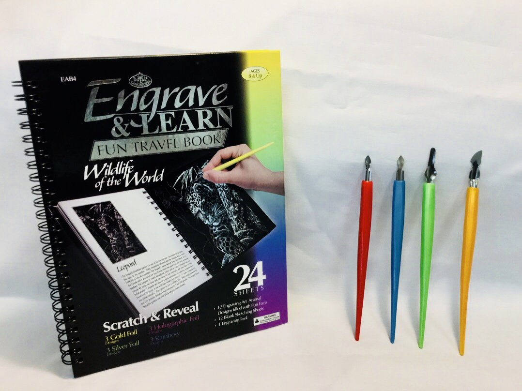 Royal and Langnickel Art Foil Scratchboard and Scratchboard Tools 4-Pack Bundle J&D' s Everyday Needs 4336898235 CA-EAB4