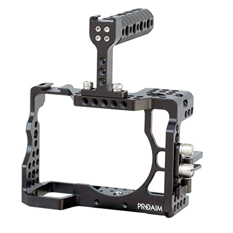 PROAIM Aluminum Sturdy Support Protection Cage of Sony Flagship A7 Mark 3 Cage for Sony A7RIII with Top Handle(CG-A7R3-01) Video Camera Stabilizers & Supports at amazon