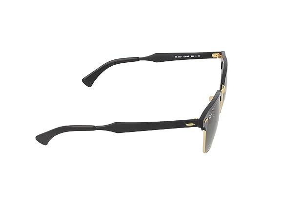 cdbe4305c51 Amazon.com  Ray-Ban RB3507 136 N5 Clubmaster Aluminum Polarized Sunglasses
