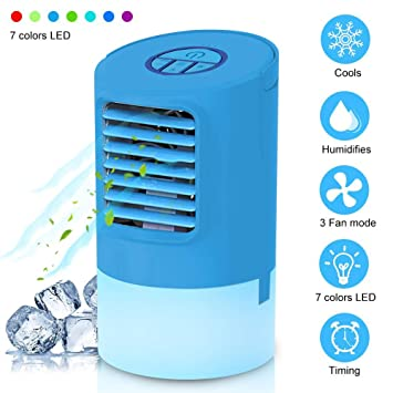 Air 7 Led Humidificateur 2 En Mobile Table Mini Climatiseur Ventilateur Refroidisseur De Portable D'air Wanweigou Silencieux 1 PuTOkXiZ