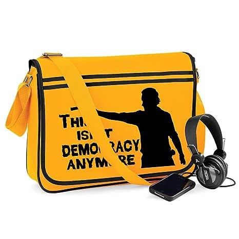 a39e4819ed19 Democracy-Unisex Funny Jokes Sayings Novelty Bagbase Retro Messenger ...