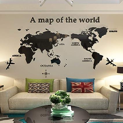 Diy World Map Wall Decor on