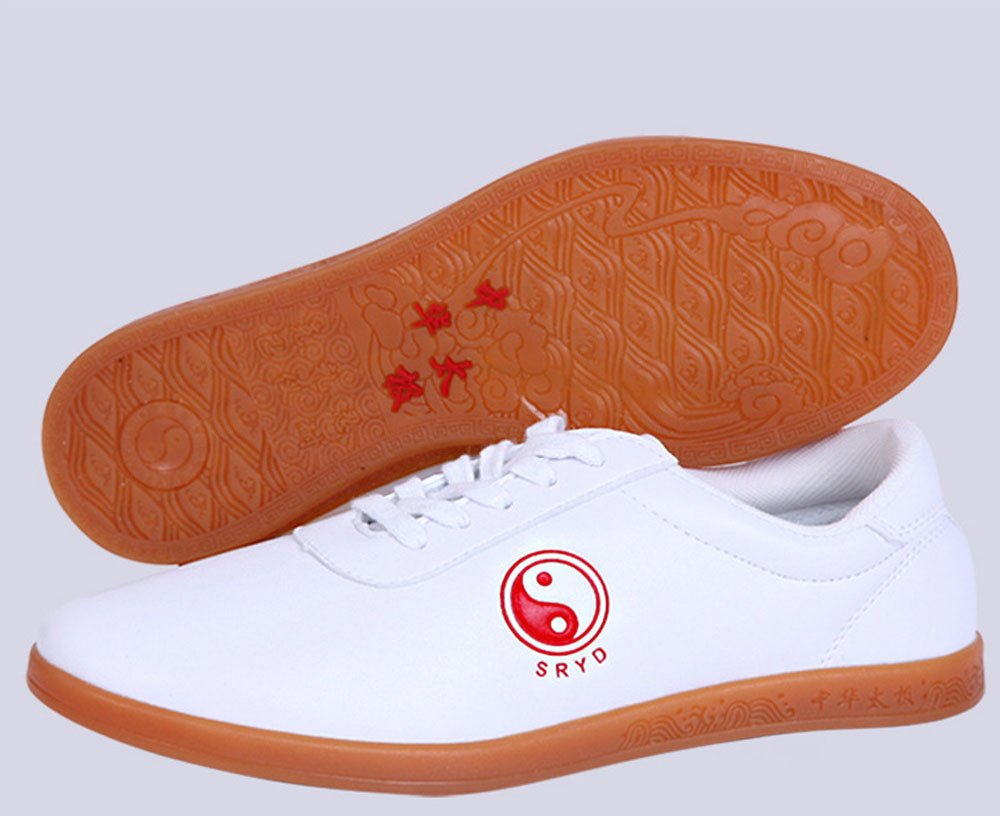 29361c1f9 Amazon.com : KIKIGOAL Unisex Breathable Kung Fu Tai Chi Shoes Soft Leather  with Classic Tai Chi Pattern : Sports & Outdoors