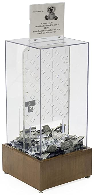 Large Tall Donation Box for Charity with Coin Drop Game and Sign Holder (Polycarbonate  sc 1 st  Amazon.com & Amazon.com : Large Tall Donation Box for Charity with Coin Drop ... Aboutintivar.Com