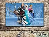 Disney Frozen Queen Elsa Kids Movie Box Framed Canvas Art Print