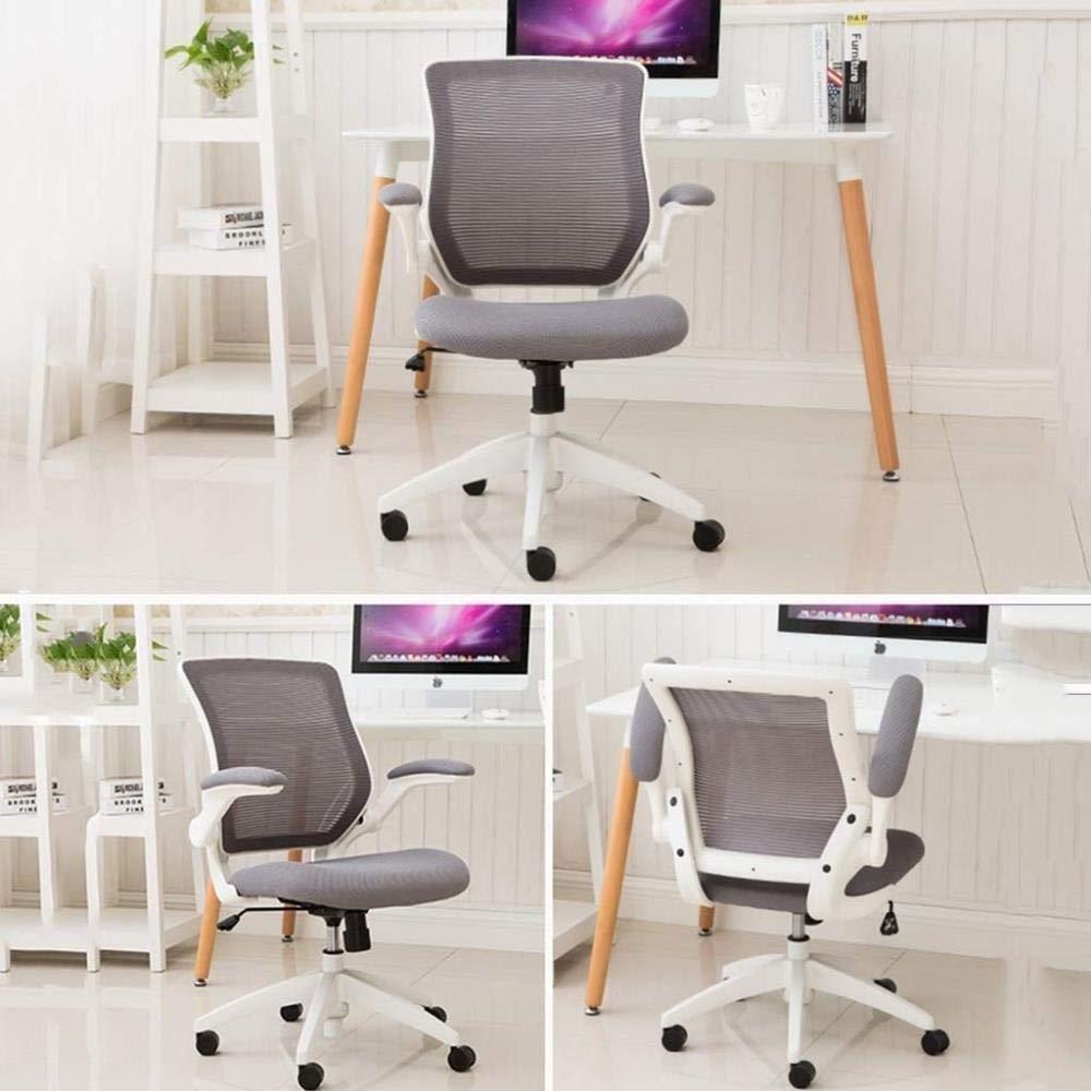 Barstolar Xiuyun möbler mitten av ryggen svart nät svängbar ergonomisk uppgift kontorsstol hem kontor stol vegan stoppad verkställande konferens snygg (färg: vit) Svart