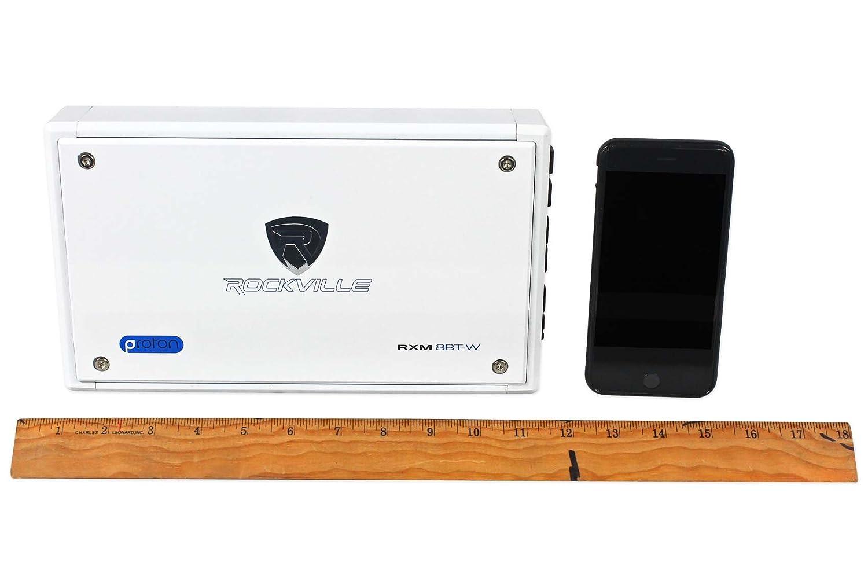Rockville RXM8BTW 8 Channel 1500 Watt CEA Rated Bluetooth Amplifier
