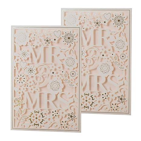 10 Einladungskarten für Hochzeit Verlobung oder für andere Anlässe Stück 0,59€