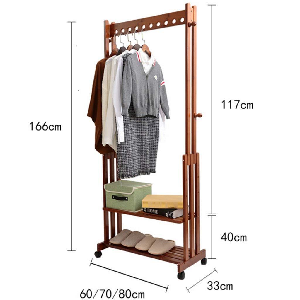 Width60cm Der Coatrack Bamboo Floor Racks Racks Simple Wardrobe Bedroom Racks Living Room Creative Storage Rack Hatstand (Size   Width60cm)