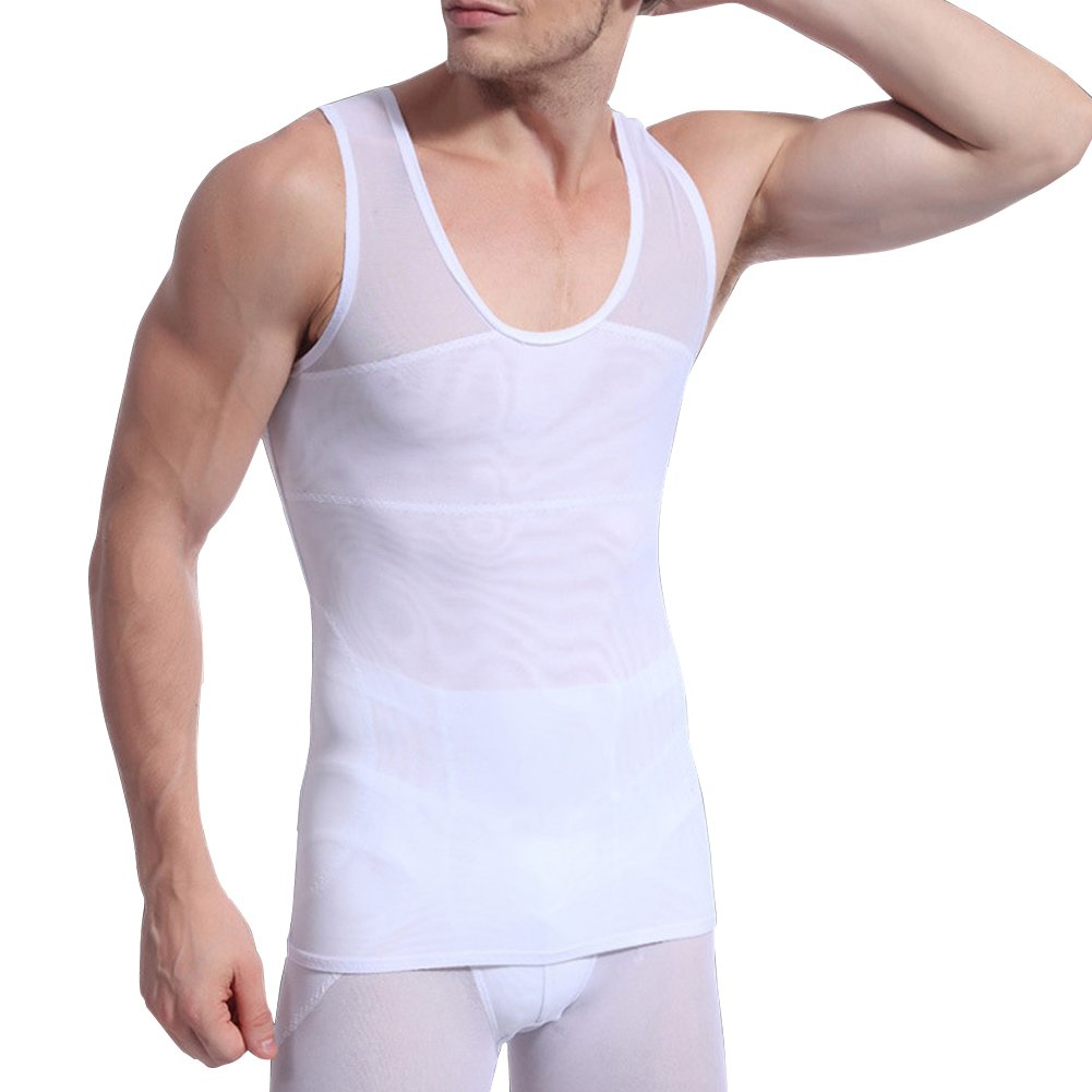 E Support Mens Slimming Body Shaper Abs Abdomen Slim Muscle Shirt Undershirt
