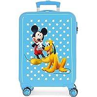 Disney Mickey & Pluto Stars Maleta de Cabina Infantil Azul 55x38x20 cm | Equipaje de Mano, Trolley de Viaje Ryanair…