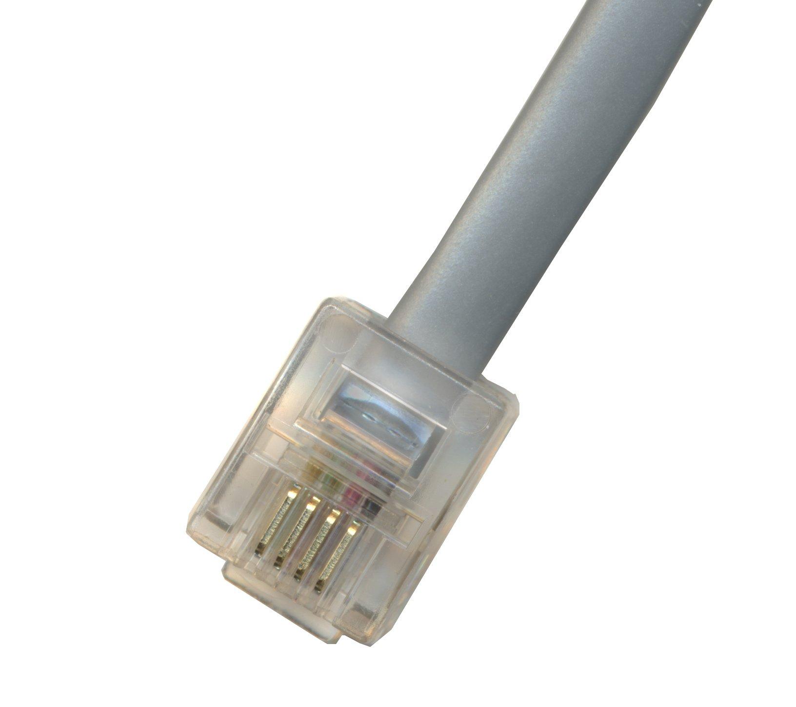 RiteAV - 65FT (19.8M) RJ11 Male to RJ11 Male 6P4C Phone Line Cord - Gray by RiteAV (Image #1)