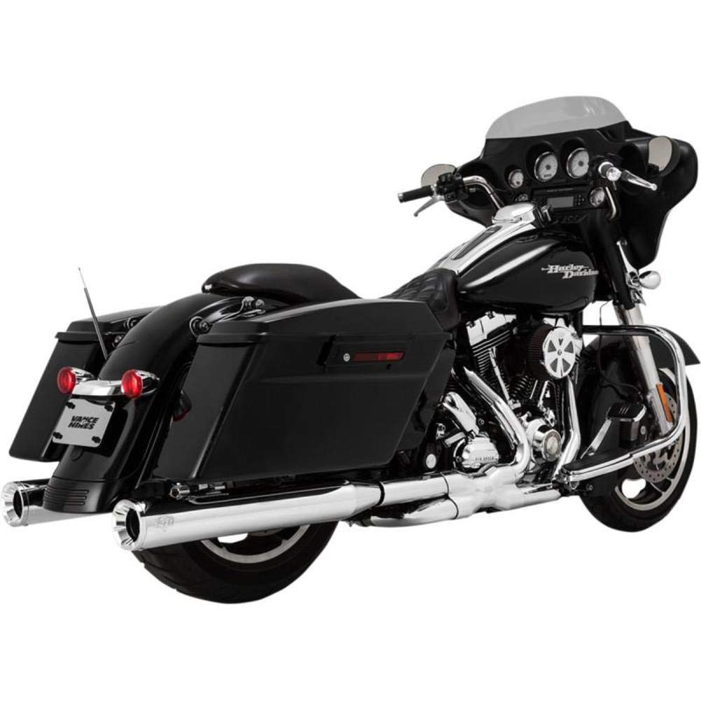 16703 06-16 HARLEY FLHX2 Vance /& Hines Eliminator 400 Slip-On Exhaust Chrome