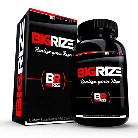 Bigrize Top Rated Male Pills, 60 Capsules – Enhance Energy, Mood, Vitality