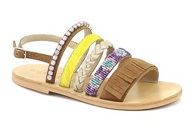 código promocional 11d4e 2bca4 Oca Loca Girls' 6763-07 Open Toe Sandals, Brown (Cuero 07 ...